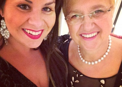 Another of Deanna's passions? Cooking! So meeting PBS's Lidia Bastianich after the NYC Columbus Day gala was … YUMMY!!!