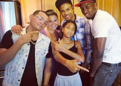 A fun moment during a songwriting camp for Willow Smith.