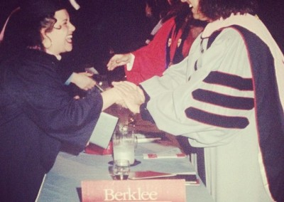 Deanna graduating from Berklee College Of Music on a full tuition, talent scholarship was huge! Getting her degree from the great Patti Labelle and Pat Metheny? HUGER!