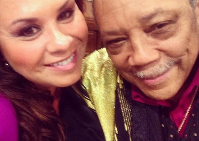 Writing for Quincy Jones' new artist Xriss Jor led to this moment of meeting the MAN behind so much greatness! Humbling to say the least!