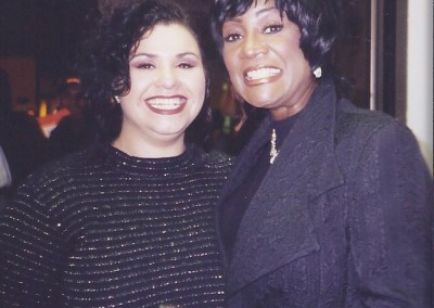 "Meeting an inspiration! Deanna and Patti LaBelle prior to the Berklee College of Music Commencement Concert in Patti's honor! Deanna sang Patti's hits: ""Feels Like Another One"", ""Lady Marmalade"" and others in tribute."