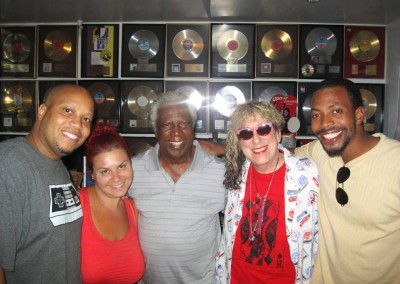 "Vibin' with the great songwriter, Allee Willis ('September', ""FRIENDS' theme, 'Neutron Dance', etc.) and Motown co-founder, Mickey Stevenson."