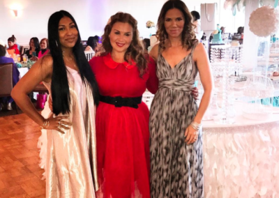 Deanna with Scandal-Less Brunch, Gladiator Mom honorees: Melanie Fiona & Kristina Kuzmic