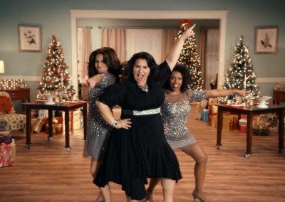 A shot from 2015 BIG Lots 'Black Friday Woman' holiday commercial.