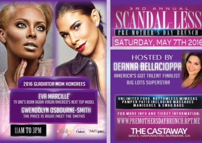 3rd Annual Scandel-less Pre-Mother's Day Brunch Honoring Meet The Smith's Gwendolyn Osbourne-Smith & America Top Model's Eva Marcille
