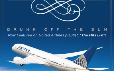 "Drunk Off The Sun"" makes United Airlines' ""HIT LIST""!"